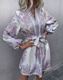Дамска рокля с атрактивен десен - код 4753 - 3