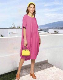 Дамска рокля в розов - код 5554
