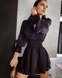 Елегантна къса рокля в черно - код 6609