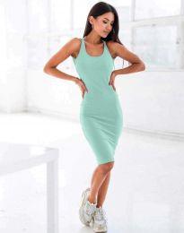 Атрактивна дамска рокля в цвят мента - код 11926