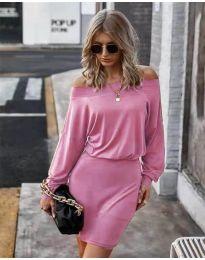 Дамска рокля в розово - код 4447
