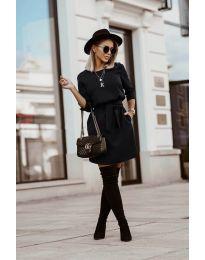 Дамска рокля в черно - код 6100