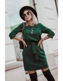 Дамска рокля в  зелено - код 6100