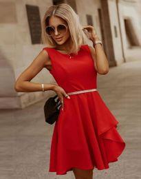 Атрактивна дамска рокля в червено - код 8917