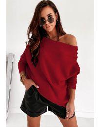 Дамска пуловер в бордо - код 4323