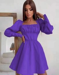 Стилна дамска рокля в лилаво - код 8150