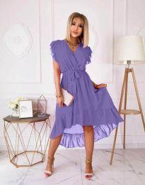 Елегантна дамска рокля в лилаво - код 8934