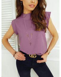 Елегантна дамска тениска в лилаво - код 177
