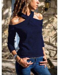 Дамска блуза в тъмно синьо- код 4616