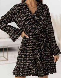 Дамска рокля с ефектен десен - код 2726 - 4