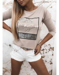 Дамска блуза в бежово - код 4223