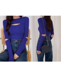 Дамска блуза в  тъмно синьо - код 0566