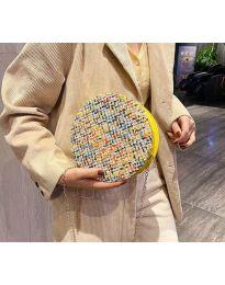Дамска чанта с атрактивен десен - код B65 - 4
