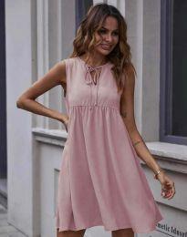 Свободна рокля в цвят пудра - код 0286