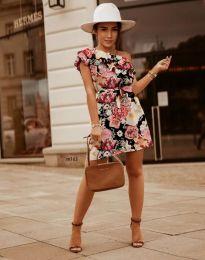 Дамска рокля с флорален десен - код 2503 - 1