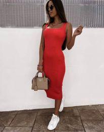 Дамска рокля по тялото в червено - код 5964