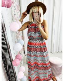 Дълга рокля с атрактивен десен - код 9856