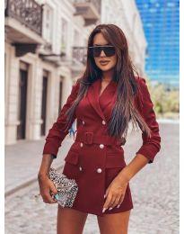 Дамско елегантно сако в бордо - код 834