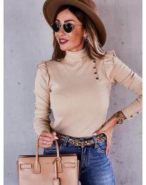 Дамска блуза в бежово - код 6566
