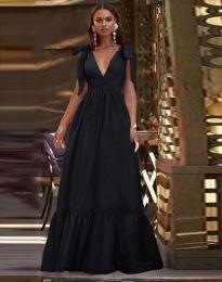 Дълга рокля в черно - код 2743
