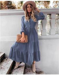 Дълга рокля в синьо - код 5150