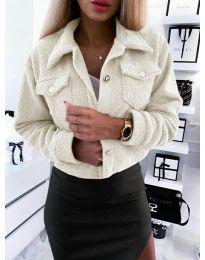 Дамско късо палто  в бяло - код 9495