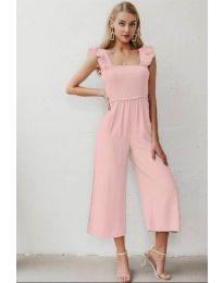Дамски гащеризон в цвят розово - код 4455