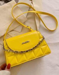 Ефектна чанта в жълто - код B322
