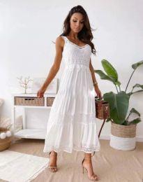Атрактивна дамска рокля в бяло - код 4672
