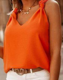 Елегантен дамски топ в оранжево - код 2548