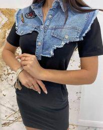 Ефектна дамска рокля в черно - код 2473