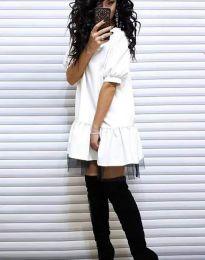 Дамска рокля в бяло - код 2856