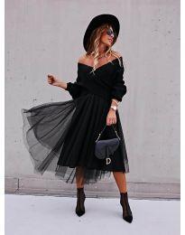 Стилна пола в черно - код 2522