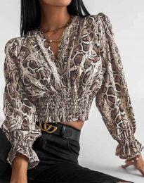 Блуза с ефектен десен - код 0483 - 3