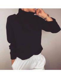 Дамска изчистена блуза в черен цвят - код 436