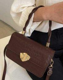 Дамска чанта в тъмнокафяво - код B498