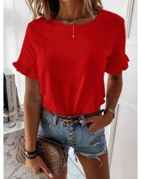 Дамска тениска в червен цвят - код 068