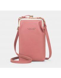Дамска чанта в цвят пудра - код B148