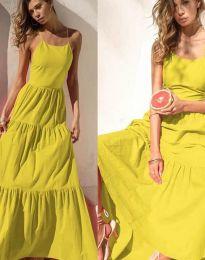 Феерична рокля в жълто - код 2991