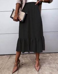 Разкроена дамска пола в черно - код 3463