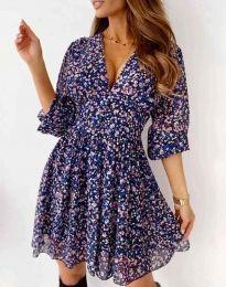 Дамска рокля с атрактивен десен - код 8434 - 3