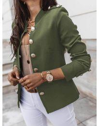 Сако с копчета в маслено зелено - код 5566