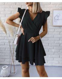 Екстравагантна рокля в черно - код 409
