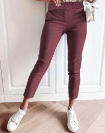 Дамски панталон в цвят бордо - код 5043