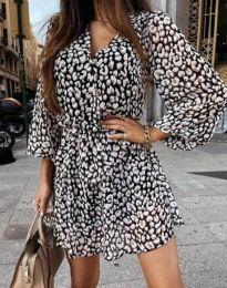 Дамска рокля с атрактивен десен - код 4589 - 1