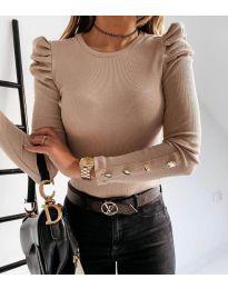 Дамска блуза в бежово - код 4157
