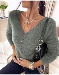 Дамска блуза в сиво - код 8051