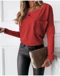 Дамска блуза в червено - код 4450