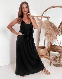Дълга дамска рокля в черно - код 11993