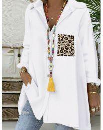 Екстравагантна блуза в бяло - код 5641